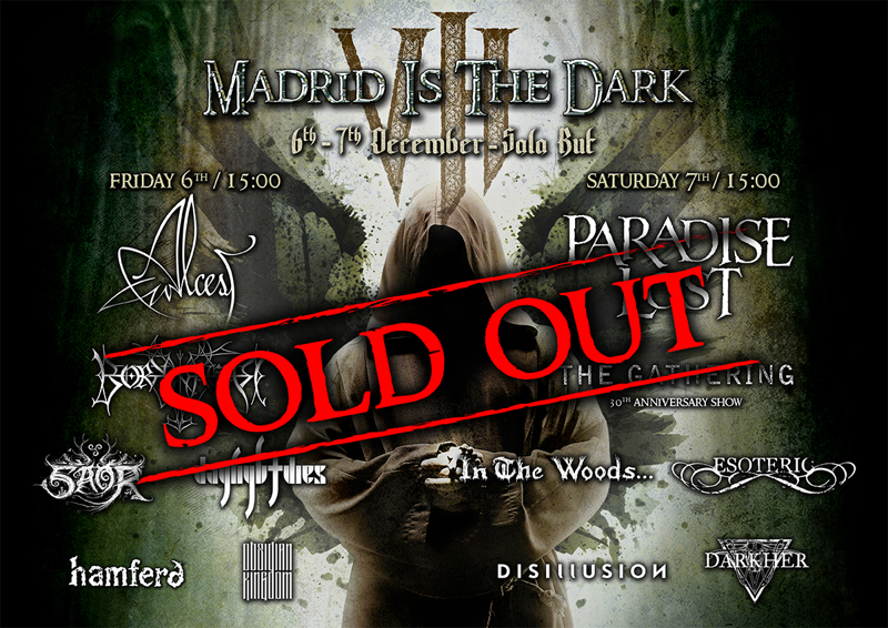 Madrid Is The Dark VIII Sold Out and set times announced